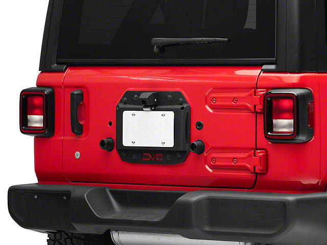 DV8 Off-Road Spare Tire Delete w/ Backup Camera Mount (18-20 Jeep Wrangler JL)
