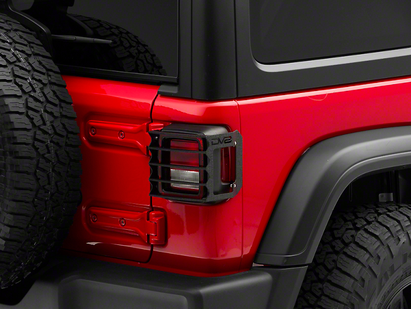 DV8 Off-Road Tail Light Guards (18-20 Jeep Wrangler JL w/ Halogen Tail Lights)