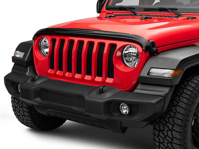 Weathertech Stone and Bug Deflector; Dark Smoke (18-21 Jeep Wrangler JL)