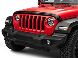 Weathertech Stone and Bug Deflector; Dark Smoke (18-20 Jeep Wrangler JL)