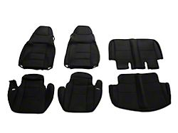 TruShield Neoprene Front and Rear Seat Covers; Black (03-06 Jeep Wrangler TJ)