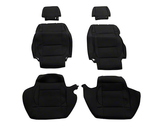 TruShield Neoprene Front and Rear Seat Covers; Black (08-10 Jeep Wrangler JK 4 Door)
