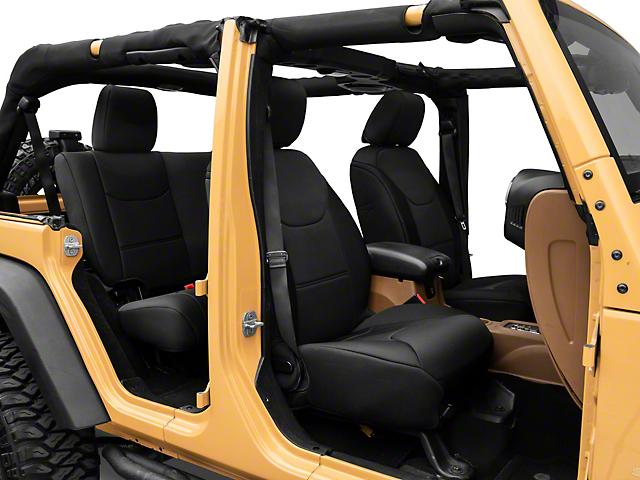 TruShield Neoprene Front and Rear Seat Covers; Black (13-18 Jeep Wrangler JK 4-Door)