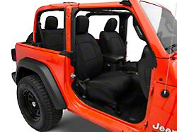 TruShield Neoprene Front and Rear Seat Covers; Black (18-21 Jeep Wrangler JL 2-Door)