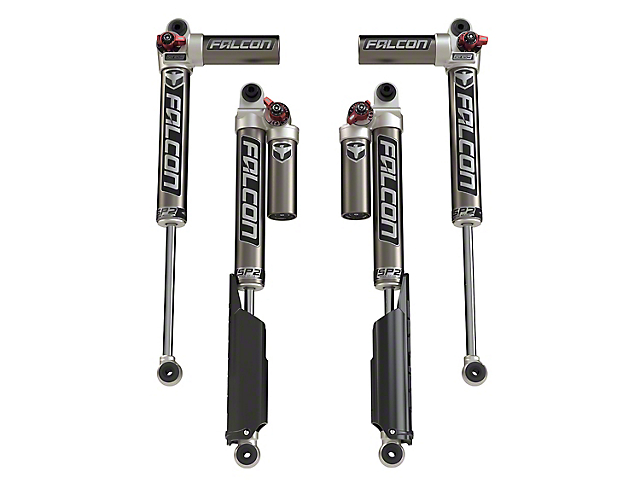 Teraflex Falcon Series SP2 3.3 Fast Adjust Piggyback Front & Rear Shocks for 2-4.5 in. Lift (18-20 Jeep Wrangler JL 4 Door)