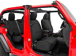 TruShield Neoprene Front and Rear Seat Covers; Black (18-21 Jeep Wrangler JL 4-Door)