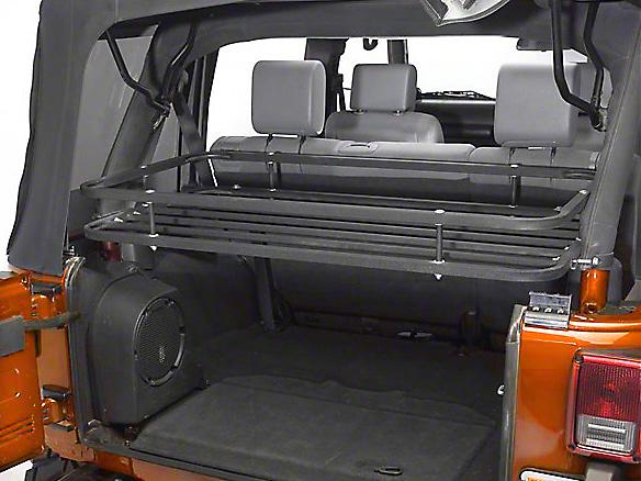 Olympic 4x4 Mountaineer Rack - Textured Black (07-18 Jeep Wrangler JK 4 Door)