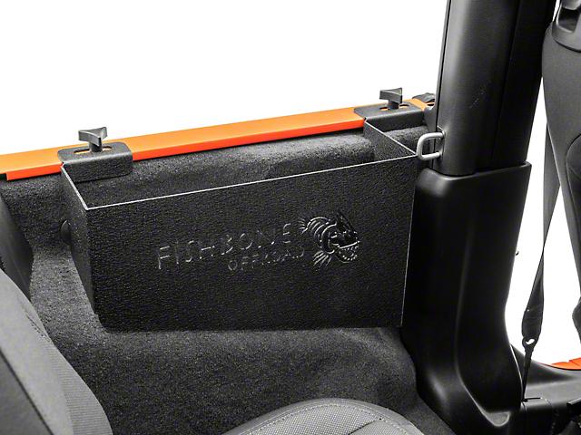 Fishbone Offroad Wheel Well Storage Bins (18-21 Jeep Wrangler JL 2 Door)
