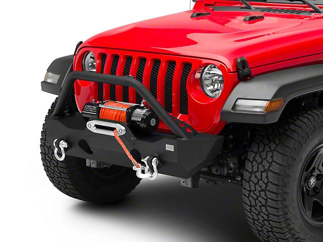Fishbone Offroad Mako Stubby Front Bumper; Textured Black (18-21 Jeep Wrangler JL)