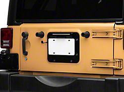 BackSide License Plate Mount; Textured Black (10-18 Jeep Wrangler JK)