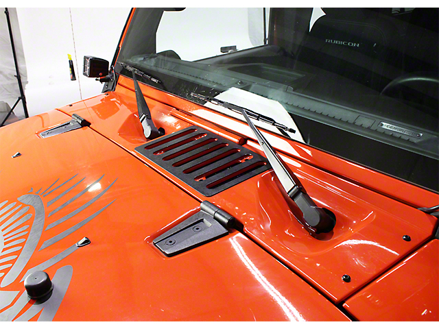 Hood Vent; Textured Black (07-18 Jeep Wrangler JK)