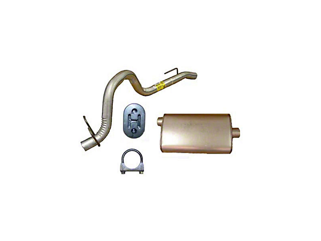 Exhaust Muffler and Tailpipe (91-92 4.0L Jeep Wrangler YJ)