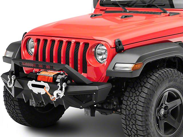 Barricade X-Series Front Bumper; Black Inserts (18-21 Jeep Wrangler JL)