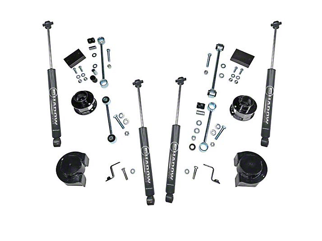 SuperLift 2.5 in. Spacer Lift Kit w/ Shadow Series Shocks (18-20 Jeep Wrangler JL)