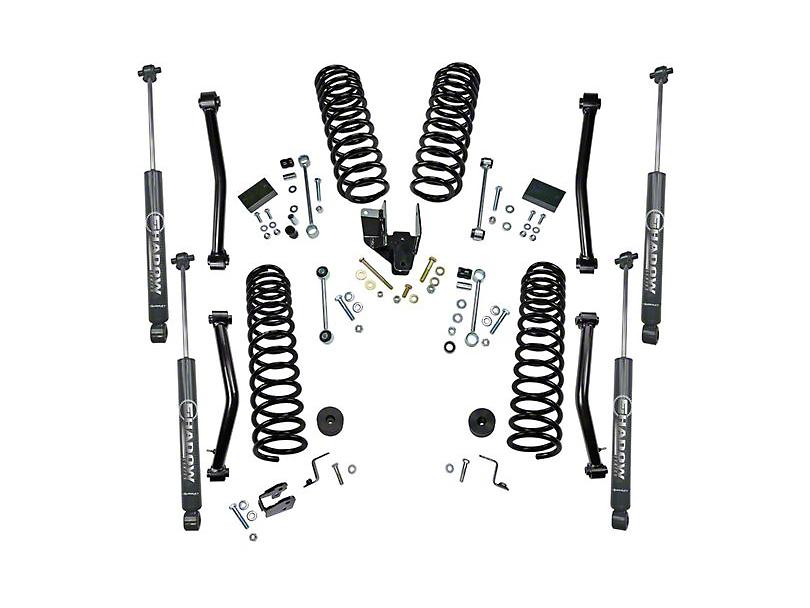 SuperLift 4 in. Dual Rate Coil Spring Suspension Lift Kit w/ Shadow Series Shocks (18-20 Jeep Wrangler JL 4 Door)