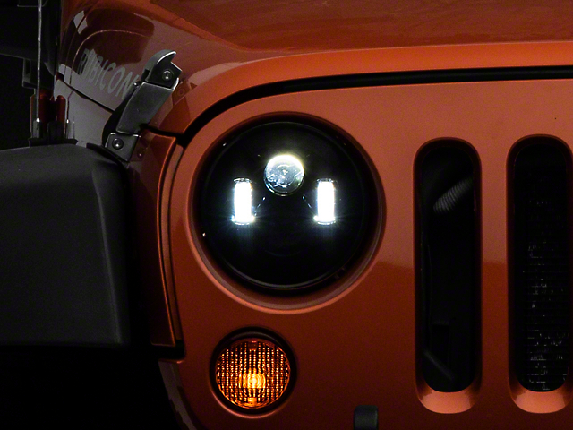 Rough Country 7 in. LED Projection Headlights (97-18 Jeep Wrangler TJ & JK)