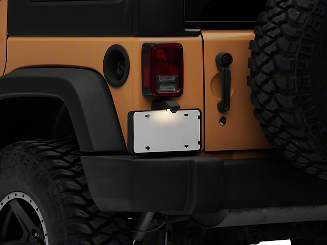 License Plate Bracket with Lamp (07-18 Jeep Wrangler JK)