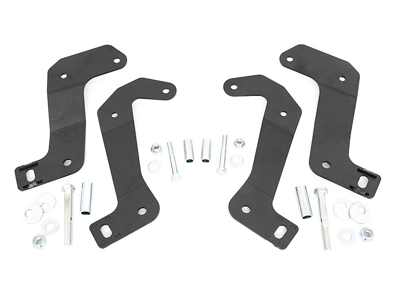 Rough Country Front Control Arm Relocation Brackets (2020 Jeep Gladiator JT)