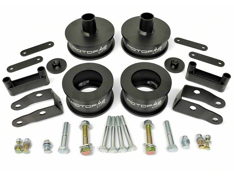 MotoFab 2.5 in. Front / 2 in. Rear Full Lift Kit w/ Shock Extenders (07-18 Jeep Wrangler JK)