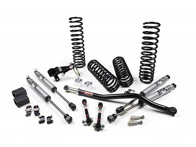 JKS JSPEC 3.50-Inch Suspension Lift Kit with Fox Shocks (07-18 Jeep Wrangler JK 4 Door)