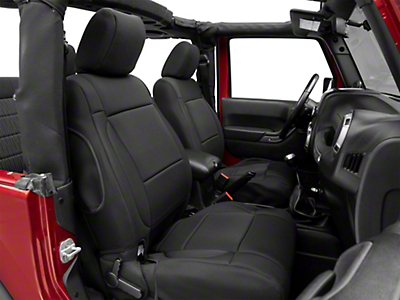 Rugged Ridge Neoprene Front Seat Covers - Black (11-18 Wrangler JK; 2018 Wrangler JL)