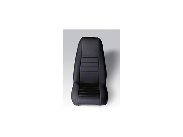 Rugged Ridge Neoprene Front Seat Covers; Black (87-90 Jeep Wrangler YJ)