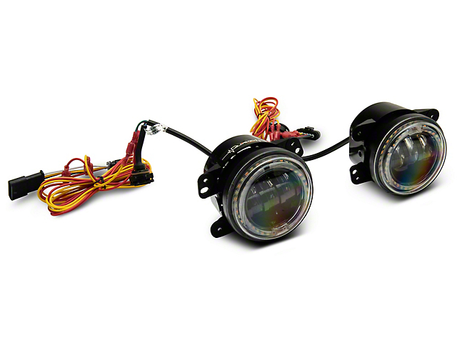 4 in. Tempest LED Fog Lights w/ White DRL Halo & Amber Turn Signals (18-20 Jeep Wrangler JL)