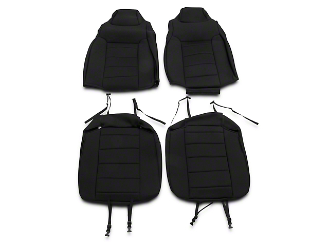 Rugged Ridge Neoprene Front Seat Covers - Black (03-06 Jeep Wrangler TJ)