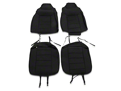 Rugged Ridge Neoprene Front Seat Covers - Black (03-06 Wrangler TJ)