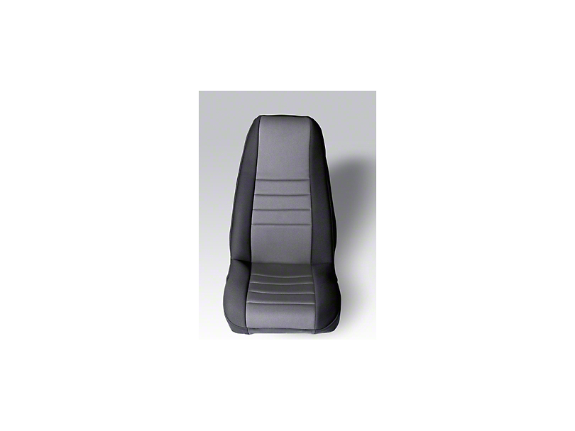 Rugged Ridge Neoprene Front Seat Covers - Gray/Black (87-90 Jeep Wrangler YJ)