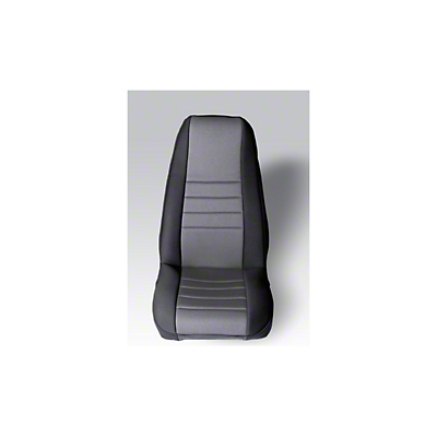 Rugged Ridge Neoprene Front Seat Covers - Gray/Black (87-90 Wrangler YJ)