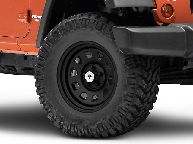 Mammoth D Window Matte Black Steel Wheel; 17x9 (07-18 Jeep Wrangler JK)
