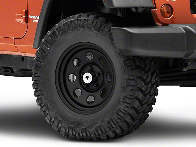 Mammoth 8 Steel Matte Black Wheel; 17x9 (07-18 Jeep Wrangler JK)