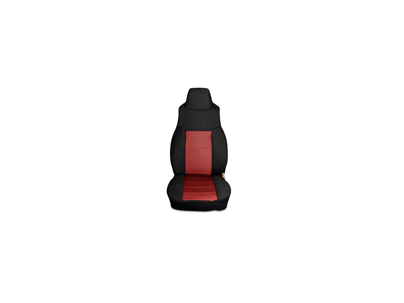 Rugged Ridge Neoprene Front Seat Covers - Red/Black (03-06 Jeep Wrangler TJ)