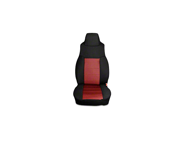 Rugged Ridge Neoprene Front Seat Covers; Black/Red (03-06 Jeep Wrangler TJ)