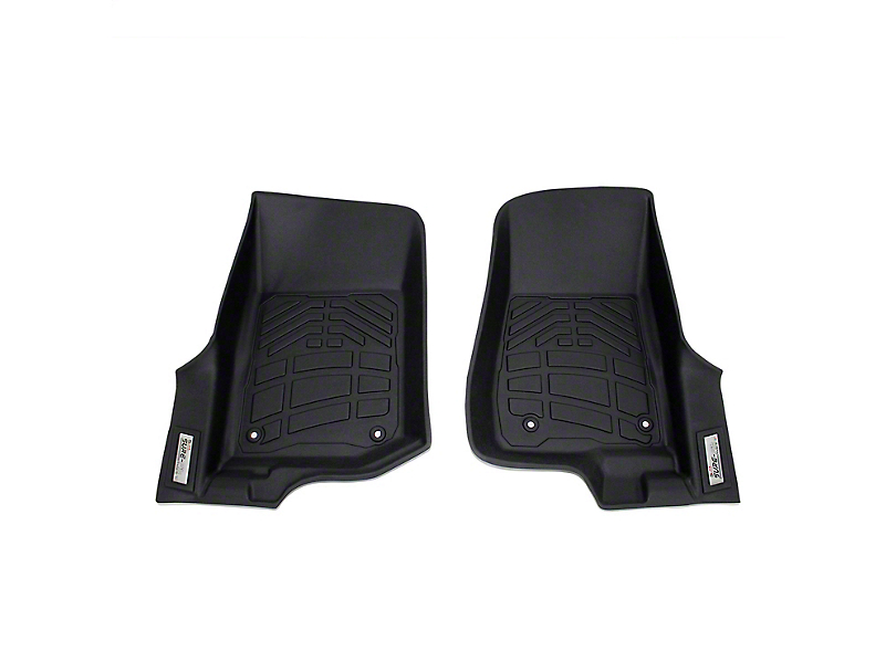 Wade Sure-Fit Front Floor Mats; Black (2020 Jeep Gladiator JT)