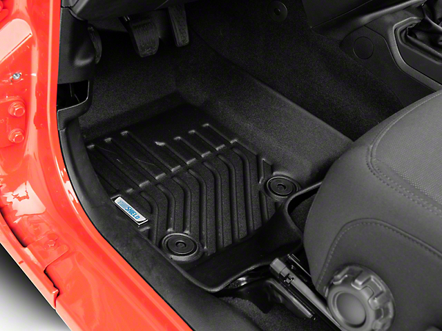 TruShield Precision Molded Front Floor Liners; Black (18-20 Jeep Wrangler JL)