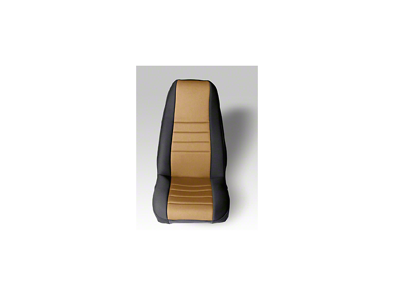 Rugged Ridge Neoprene Front Seat Covers - Tan/Black (87-90 Wrangler YJ)
