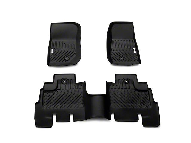 TruShield Precision Molded Front and Rear Floor Liners; Black (07-13 Jeep Wrangler JK 4 Door)