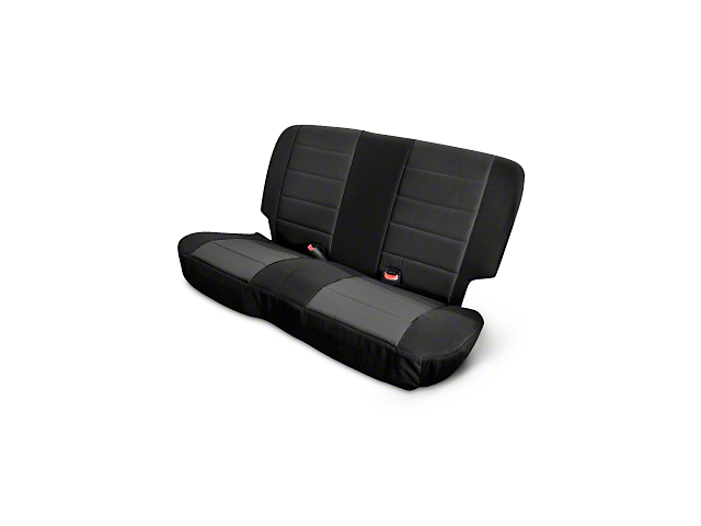Rugged Ridge Neoprene Rear Seat Cover; Black (03-06 Jeep Wrangler TJ)