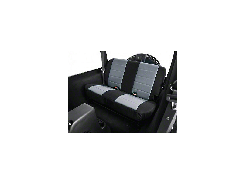 Rugged Ridge Neoprene Rear Seat Cover - Gray/Black (03-06 Jeep Wrangler TJ)