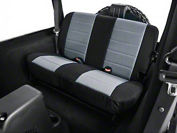 Rugged Ridge Neoprene Rear Seat Cover - Gray/Black (03-06 Wrangler TJ)