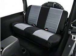 Rugged Ridge Neoprene Rear Seat Cover - Gray/Black (03-06 Jeep Wrangler TJ)