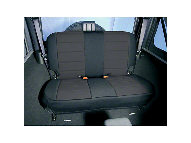 Rugged Ridge Neoprene Rear Seat Cover - Black (87-95 Jeep Wrangler YJ)