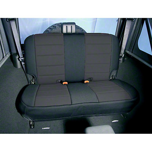 Rugged Ridge Neoprene Rear Seat Cover - Black (87-95 Jeep Wrangler YJ)