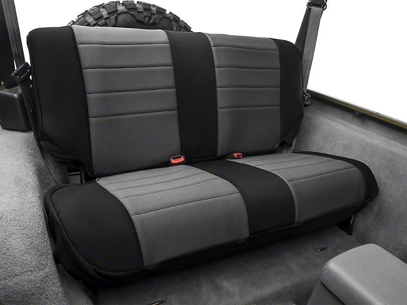 Rugged Ridge Neoprene Rear Seat Cover - Gray/Black (97-02 Jeep Wrangler TJ)