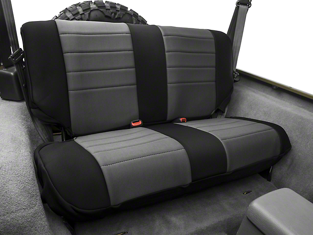 Rugged Ridge Neoprene Rear Seat Cover - Gray/Black (97-02 Wrangler TJ)