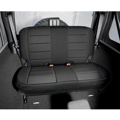Add Rugged Ridge Neoprene Rear Seat Cover - Black (97-02 Wrangler TJ)