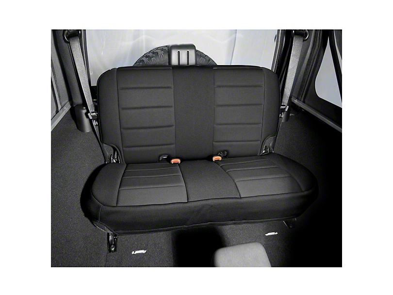 Rugged Ridge Neoprene Rear Seat Cover; Black (97-02 Jeep Wrangler TJ)