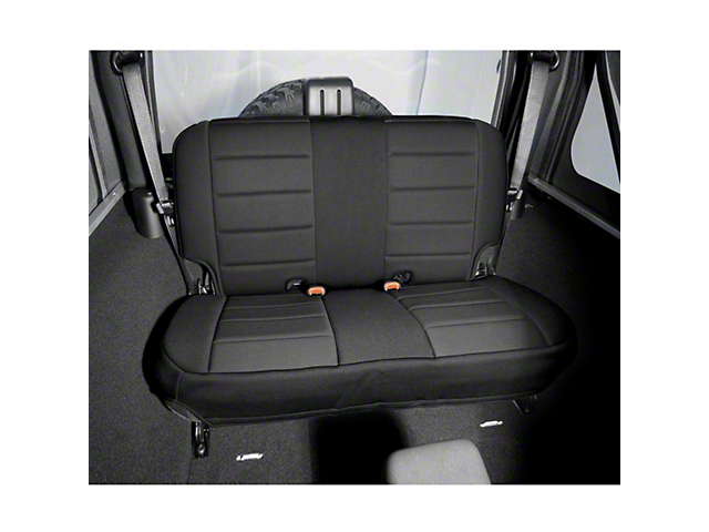 Rugged Ridge Neoprene Rear Seat Cover   Black (97 02 Jeep Wrangler TJ)
